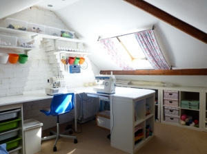 Sewing space under the eaves