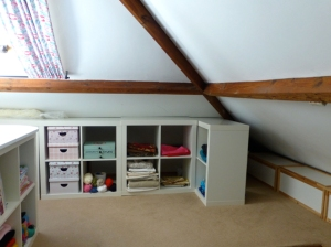 "Ikea ""Expedit"" units for open storage"