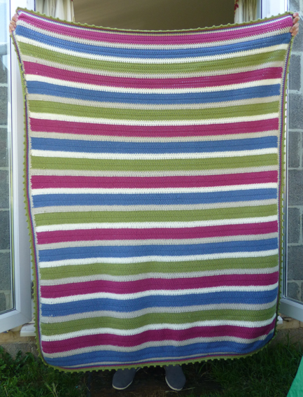 Stripy throw small