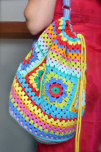 Crochet rucksack bag - 02