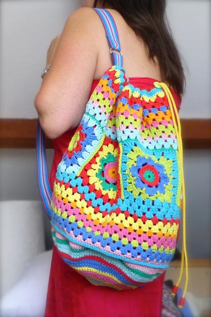 Crochet rucksack bag - 03