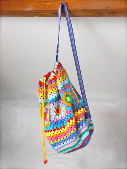Crochet rucksack bag - 09