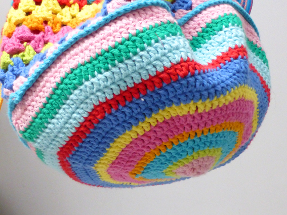 Crochet rucksack bag - 12