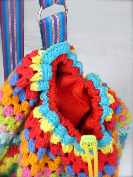Crochet rucksack bag - 16