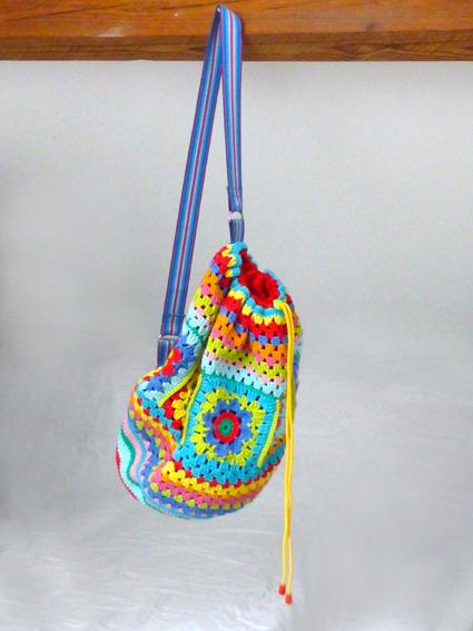Crochet rucksack bag - 17