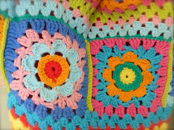 Granny square flowers small