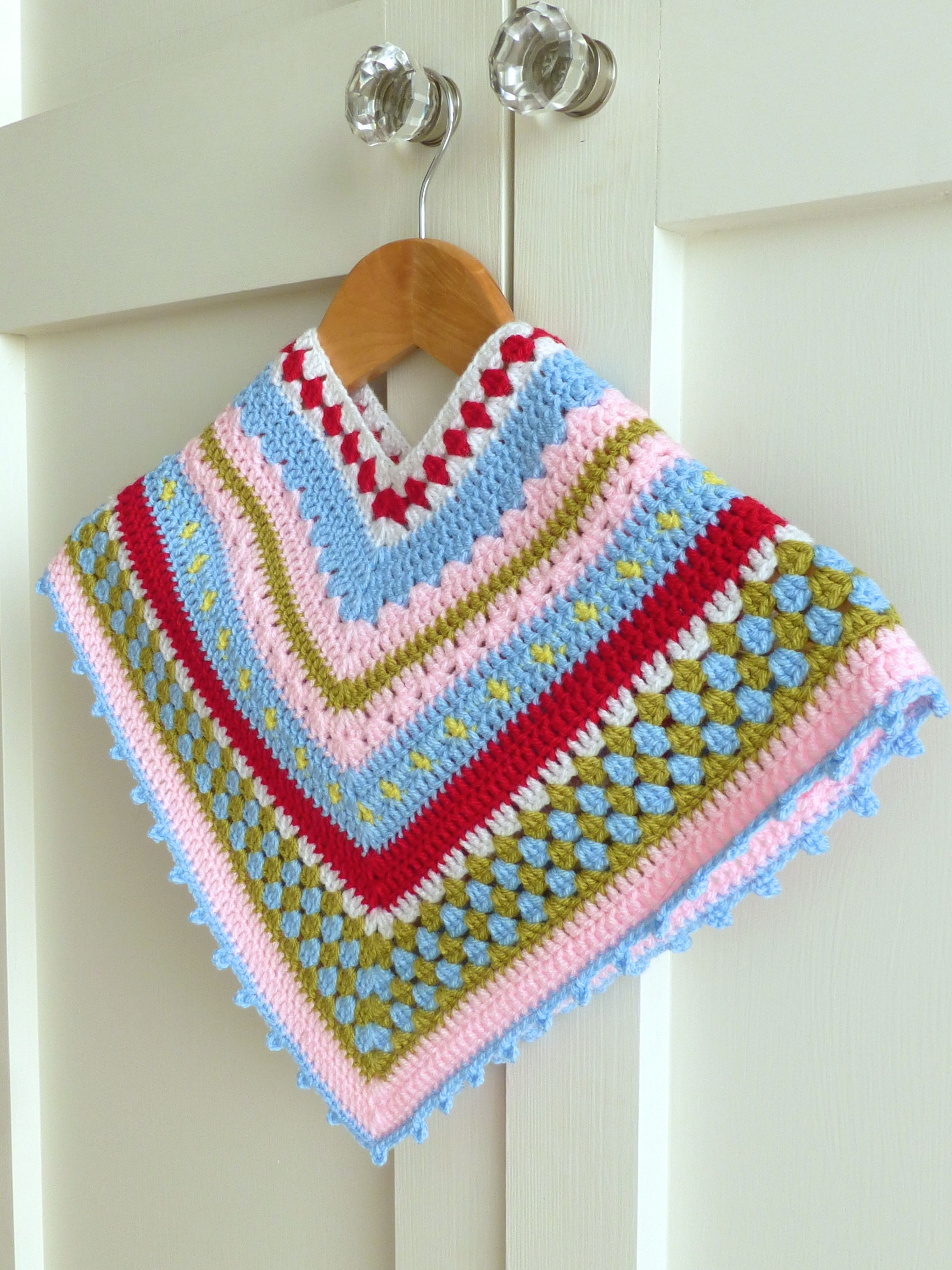 Greengate Style Baby & Toddler Girls Crochet Poncho | Sewchet