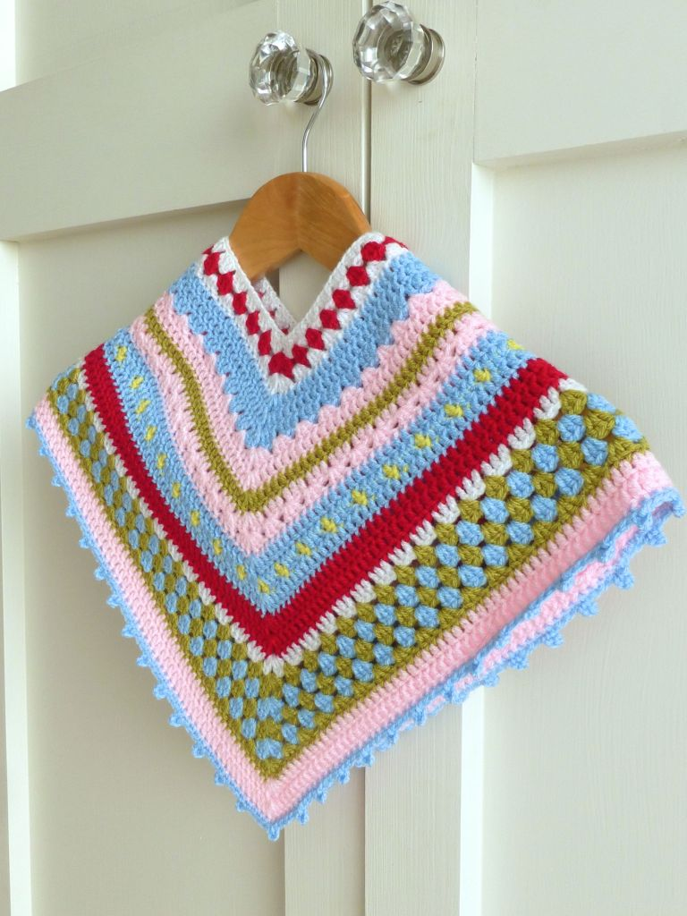 Greengate Girls Crochet Poncho