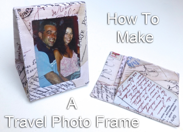Travel photo frame and case