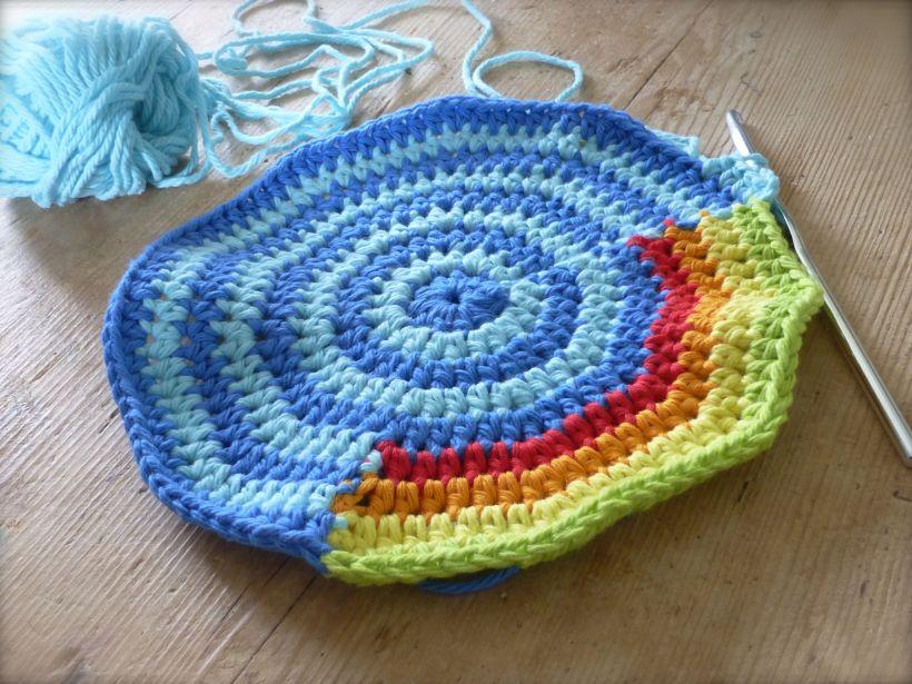 crochet clock WIP
