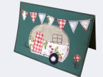 Free machine embroidery caravan birthday card