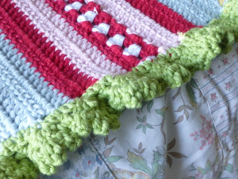 Greengate style crochet blanket edge