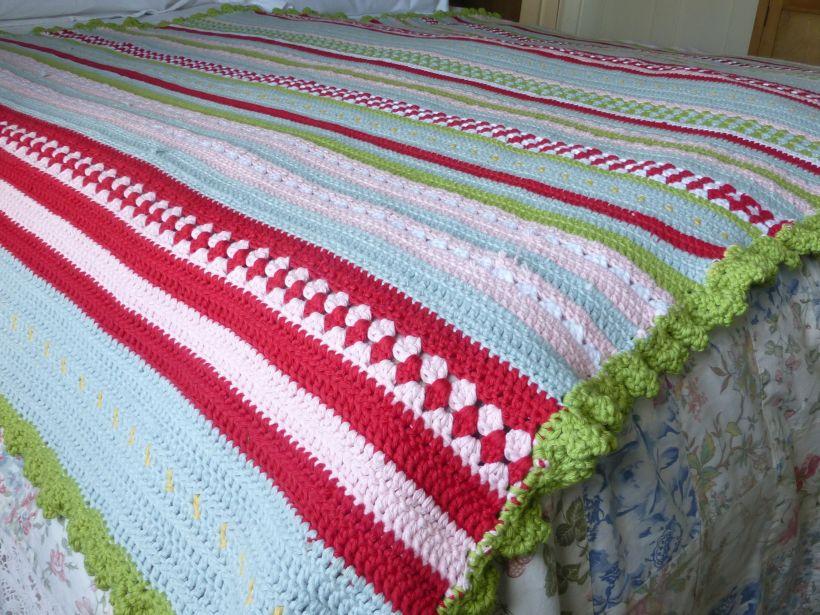 Greengate style crochet blanket
