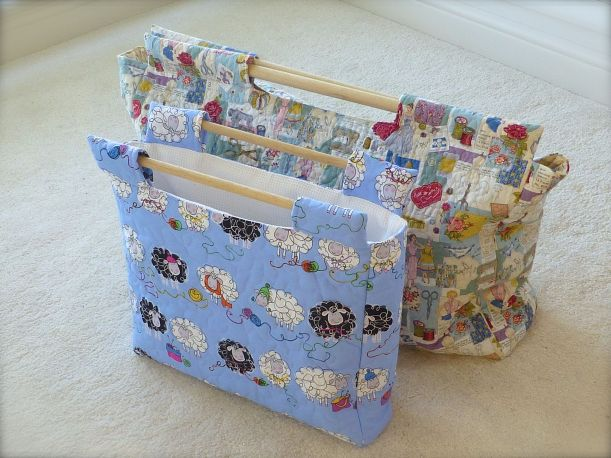 sewing crochet bag
