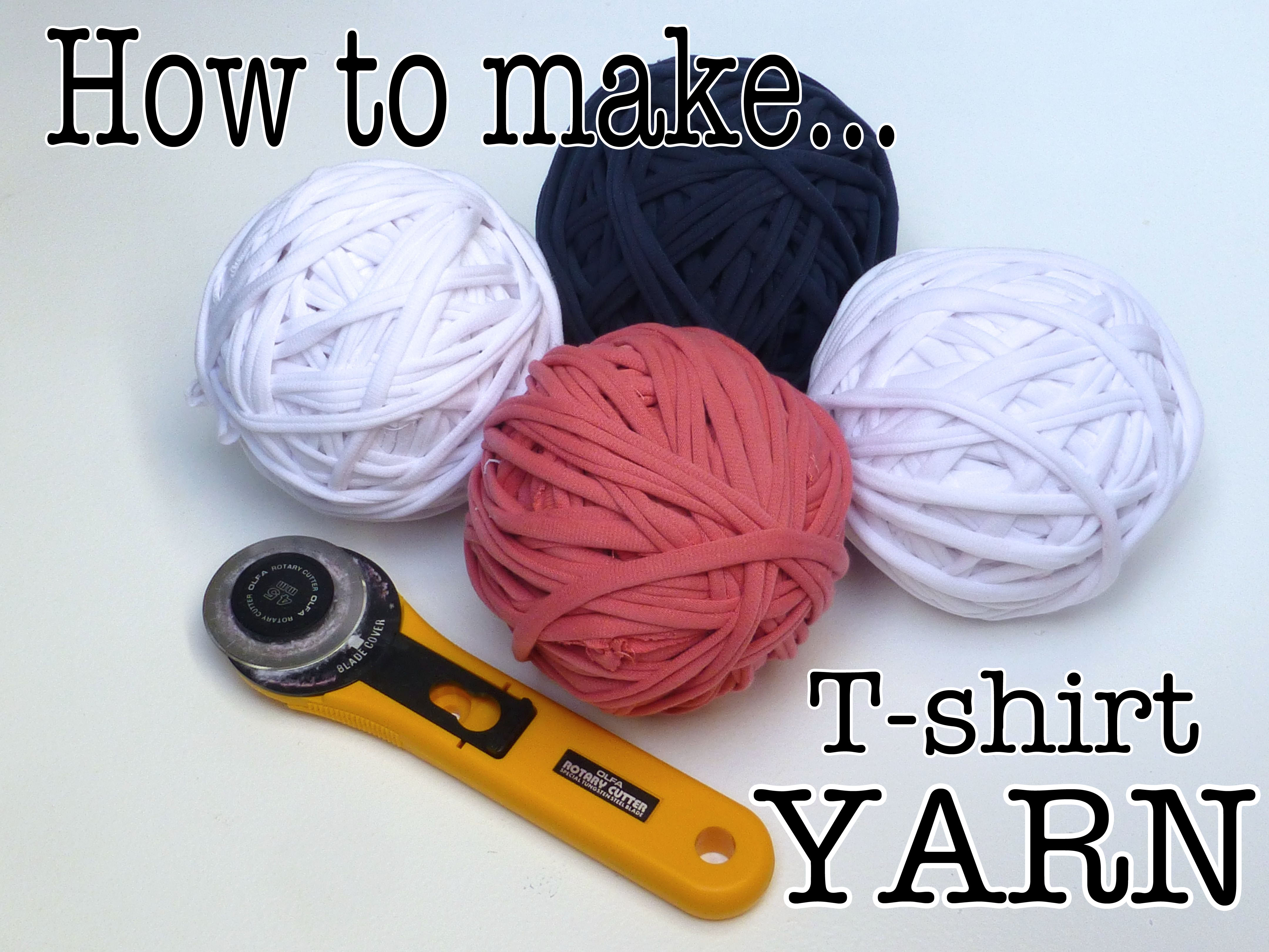 How to make a rug with homemade t shirt yarn sewchet for Make a photo t shirt