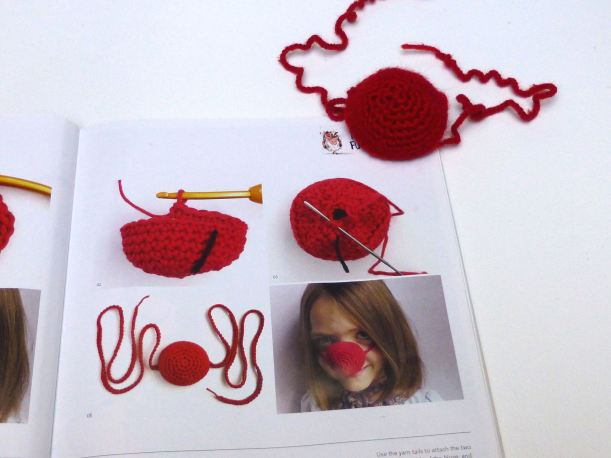 crochet red nose