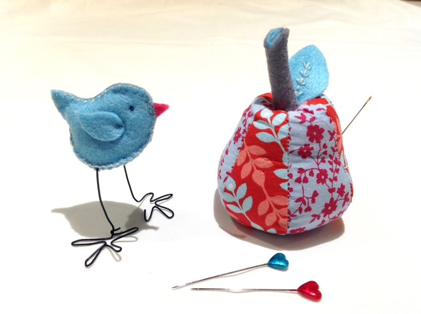 Sarah's Crafternoon chick and pin cushion