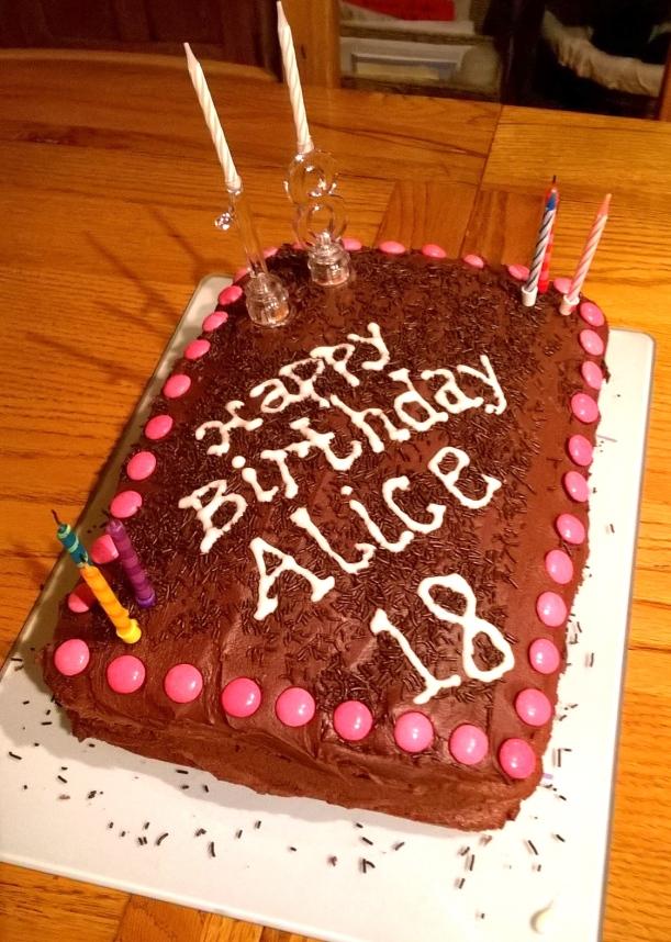 18th cake