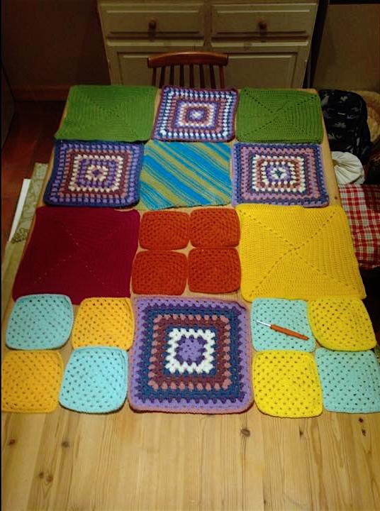 crochet granny squares