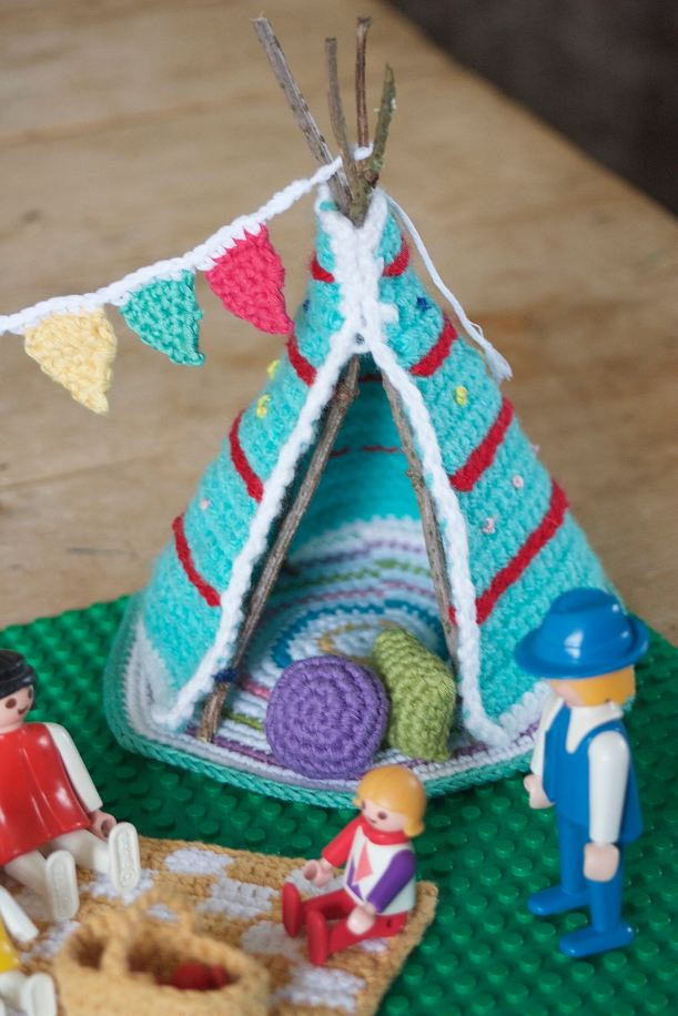 let's go camping kate bruning teepee and cushions