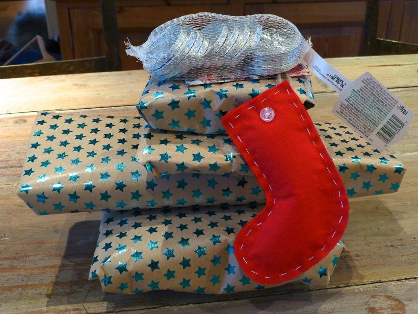 stitching santa gifts