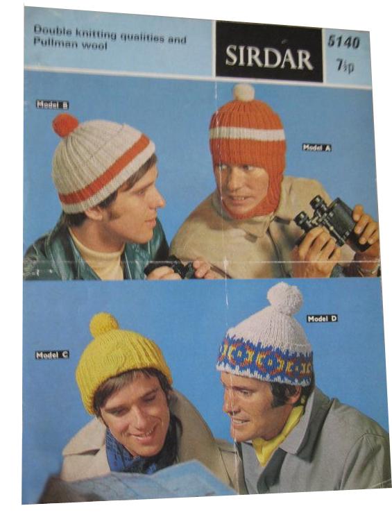 70s bobble hat pattern