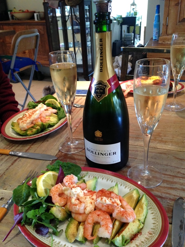 champagne lunch