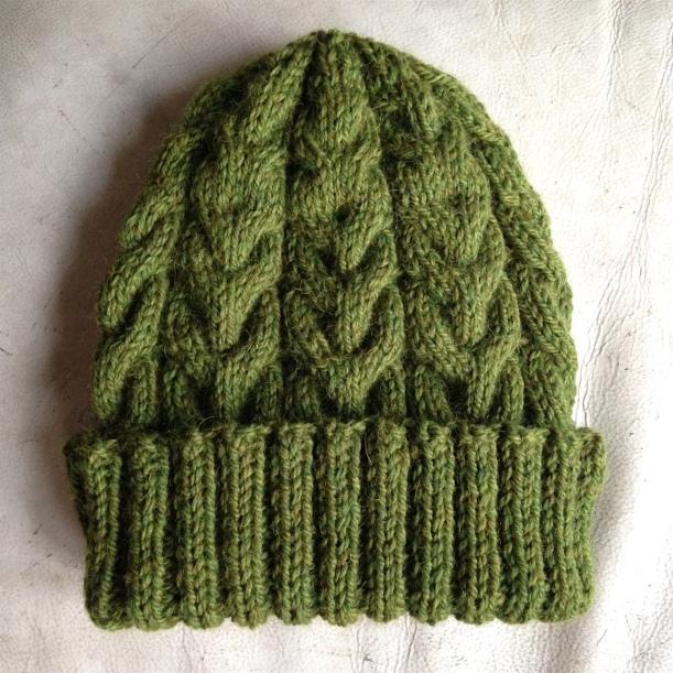 green bobble hat