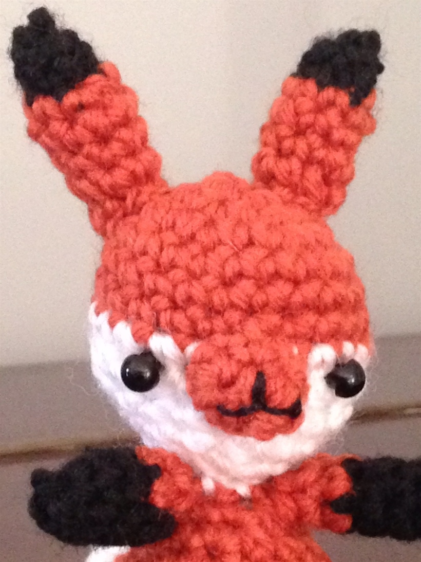 crochet fox head